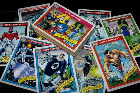 MARVEL UNIVERSE Series 1 Trading Cards (1990, Impel) [75 Card Lot]