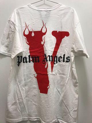 INSTOCK VLONE PALM ANGELS WHITE TEE