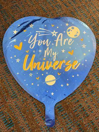 America Balloon: You are my universe heart balloon