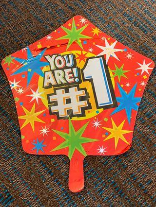 America balloon: You are number 1 star balloon