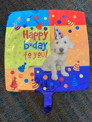 America Balloon: Happy Birthday Puppy Balloon