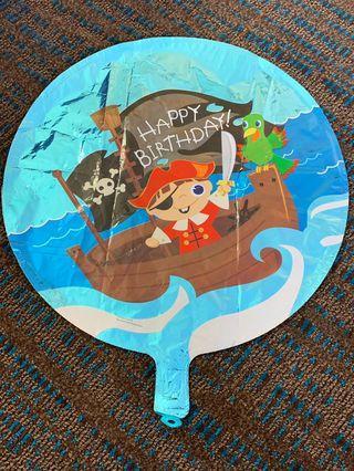 America Balloon: Happy Birthday Pirate Balloon