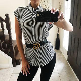 Striped sleeveless blouse size XS - S
