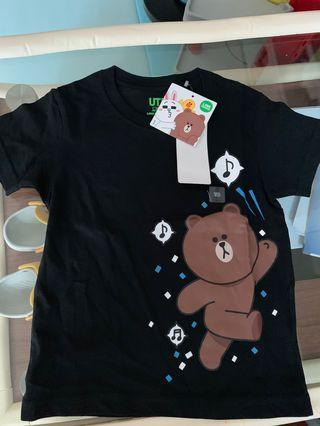 Line friends x uniqlo 能大tee
