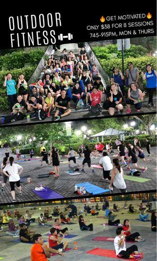 🚚 Outdoor Fitness @ S$38 (8 sessions per month)