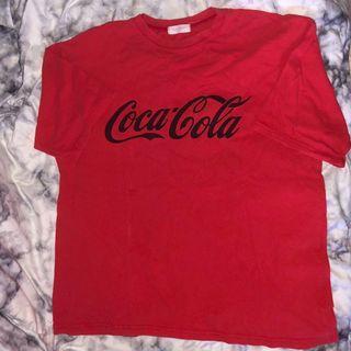 水洗玩翻coca cola 紅色上衣
