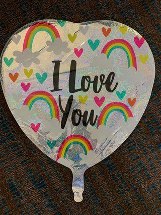America Balloon: I love you rainbow balloon