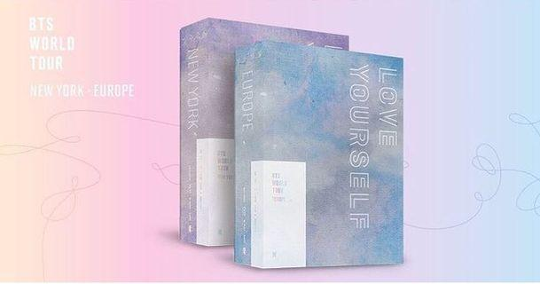 BTS LOVE YOURSELF TOUR IN NEW YORK AND EUROPE DVD