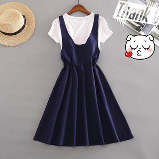 法國連衣裙两件套裝
