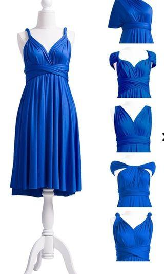 Infinity Dress in Royal Blue