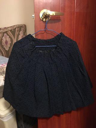 黑色 暗點裙