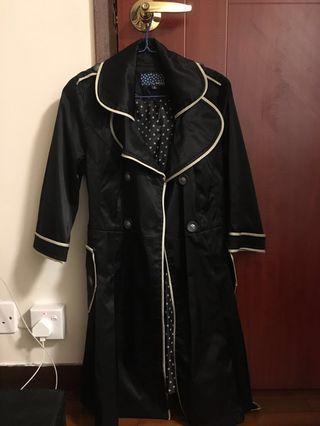 黑色 風衣/乾濕嬲