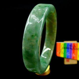 58.7mm Certified 100% Natural Grade A Jadeite Jade Bracelet Bangle