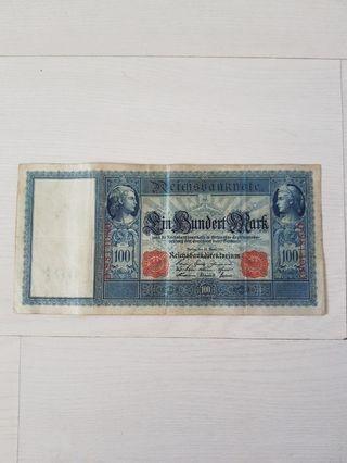 🚚 German Reich Banknote 100