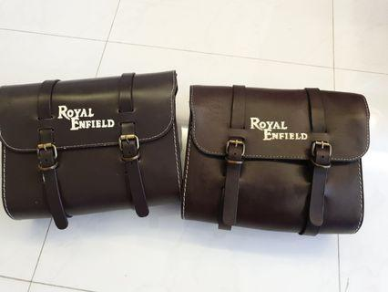 Leather Saddle bags for Royal Enfield