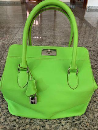 Fast Deal!!! Preloved Hermes Toolbox 26 Granny Smith