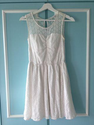 $200> $100 b+ab white one piece dress 白色連身裙 #junesalefashion