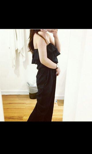 black long jumpsuit*beli 400k jual 135k