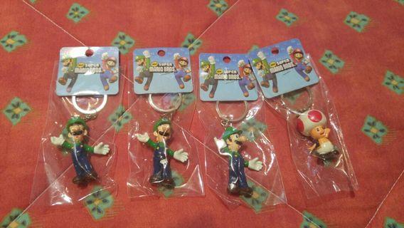 Luigi & Toad Keychains
