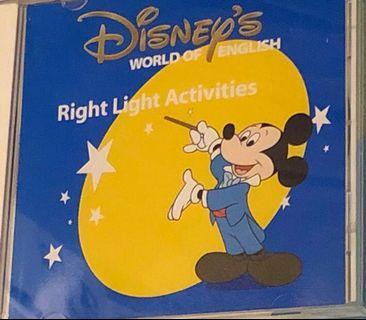 Disney world of English 迪士尼美語 right light activities