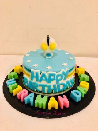 Ultraman dad jelly cake