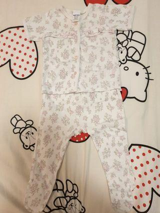 Baby Kiko Girl Short Sleeve Top and Covered Long Pants