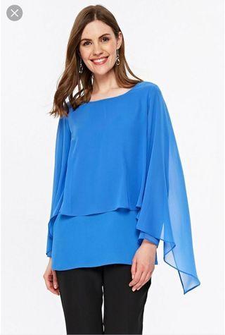 購自英國 Wallis blue layered top