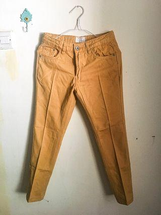 Celana Jeans Kuning, Cotton Suede.