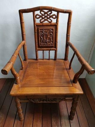 Antique Bamboo design wooden chair
