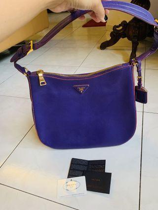 🚚 Prada Leather Saffiano Lux Shoulder Bag