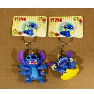 6 CM Tall! DISNEY Character STITCH Keychains (Set of 2)