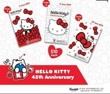 Hello Kitty 45th Anniversary collection Ezlink