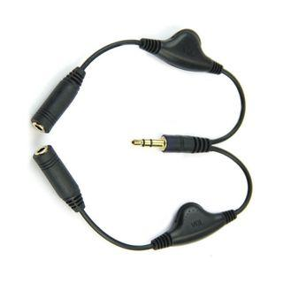 3.5mm Jack Audio Splitter With Individual Volume Control Dials (Brand New)