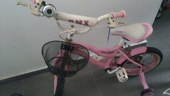 Cute pink bike for learning bikes