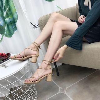 🚚 Shoelace heels / sandal