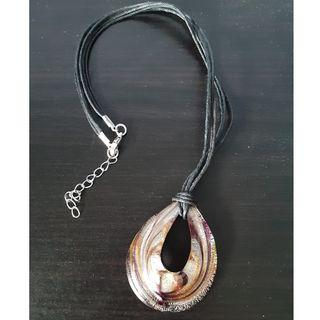 Vintage Purple Gold Necklace