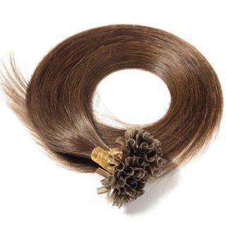 "U-Tip 200 Strands Pre Bonded Keratine Remy 100% Human Hair Extensions (18""-100g, #4 Medium Brown) (Brand New)"