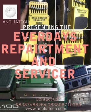 Digital effect guitars Service and repairt