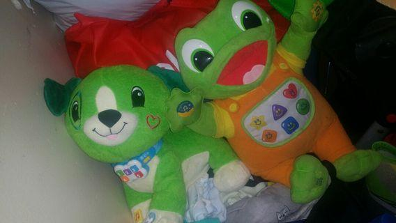 Leap frog dog and frog
