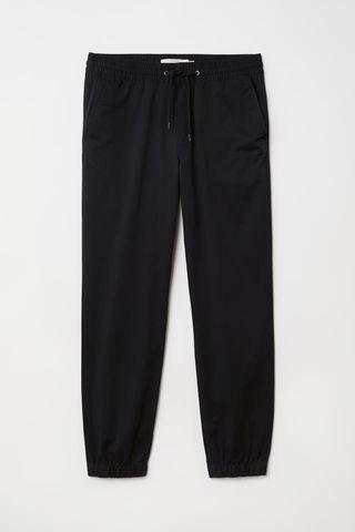 H&M LOGG Brushed Cotton Twill Joggers