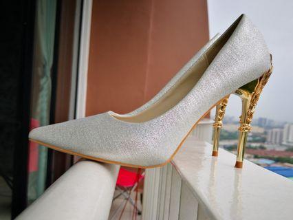Wedding Shoes /High Heel Silver