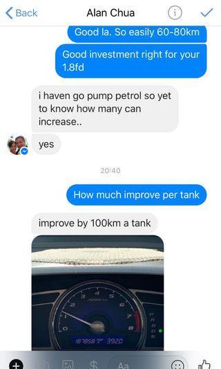 Honda Civic 1.8FD fuel saver