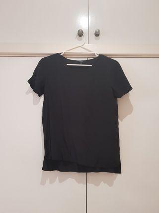 SABA Black Silk Tee Size M/10