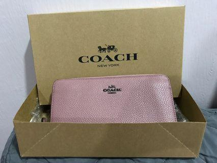 Genuine Authentic leather coach woman wallet