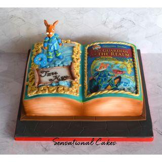 Geronimo Stilton 3d sugar handcrafted figurine book design 3d customized cake #singaporecake