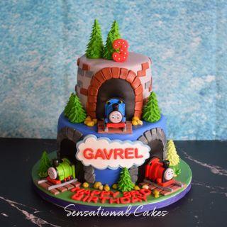 Thomas and friends children birthday boy theme 3d customized cake #singaporecake