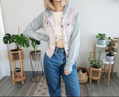 Pink and Grey hoodie jacket