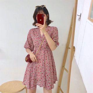 Floral Kimono Wrap Dress (Free Mailing)