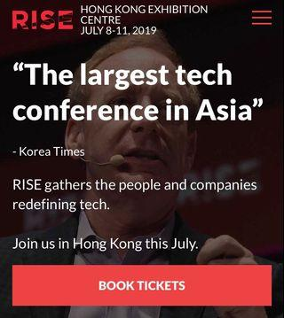 Rise 2019 attendee ticket