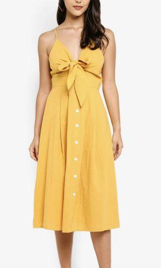 Missguided Yellow Midi Dress